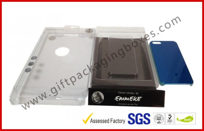 PVC / PET Plastic Clamshell Packaging ,CMYK Printing Iphone Case Box