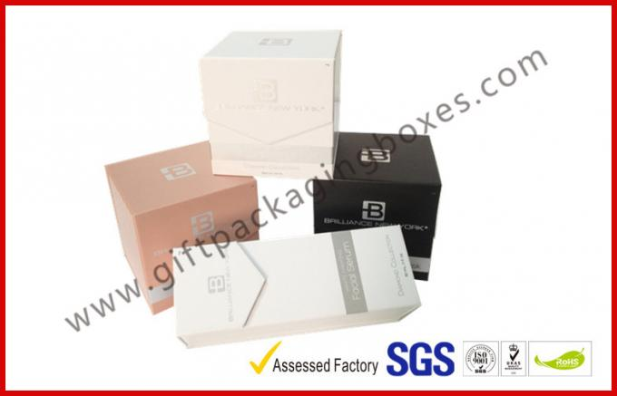 Rectangle Cosmetic Packaging Gift Box , Foldable Paper Packaging