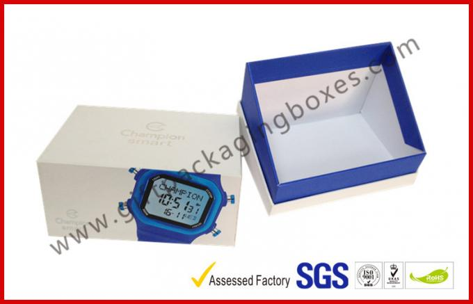 Offset Printing White Watch Apparel Gift Boxes Packaging , Hypotenuse Lid Boxes