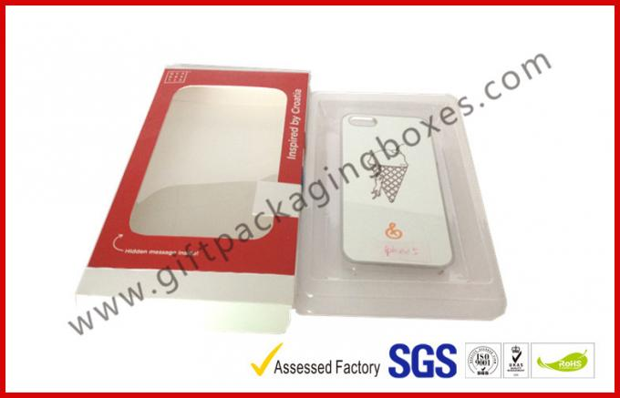 Iphone Case Coated Paper Box Card Board Packing With Big Window