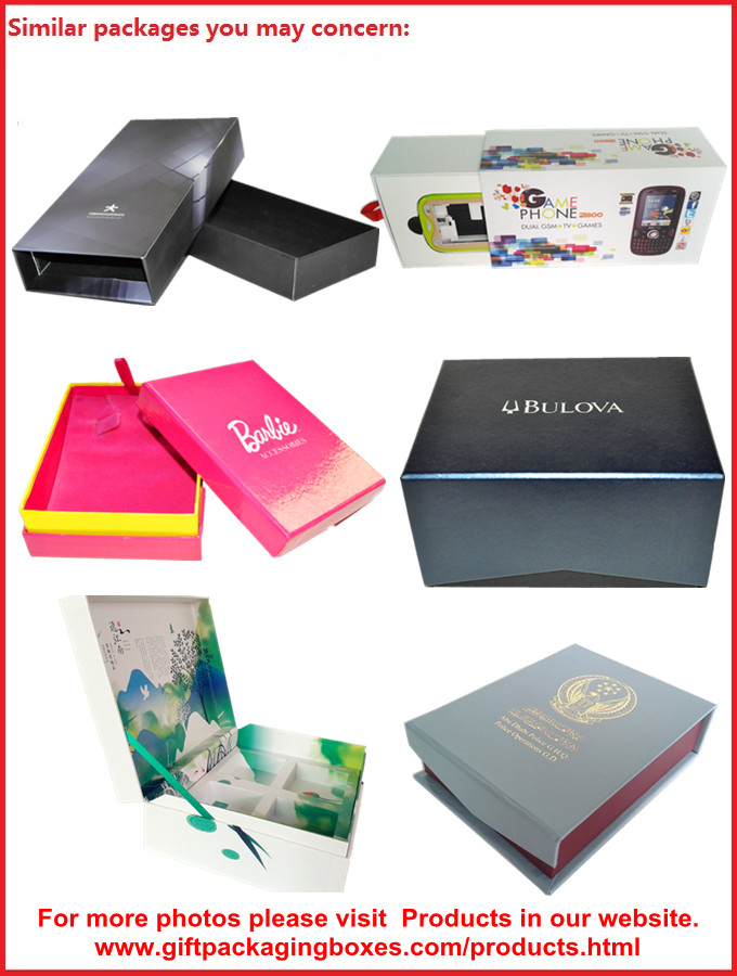Customized Europe Lid and Base Apparel Gift Boxes , Christmas Gift Packages