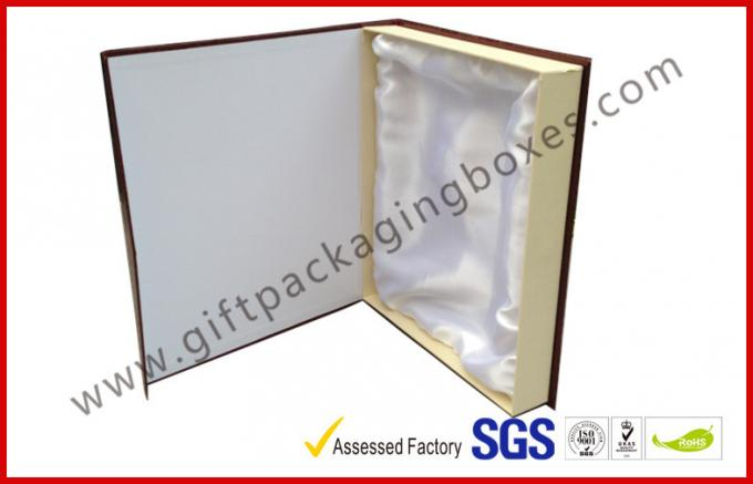 Luxury leathe paper with texture gift boxes for frame ,  Customized crocodile embossed leather paper gift package