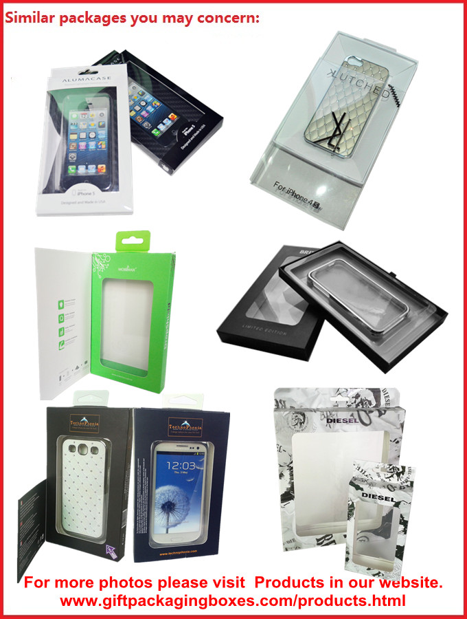 Customized Card Paper Electronics Packaging , 350gsm Display Box With Hanger And Window