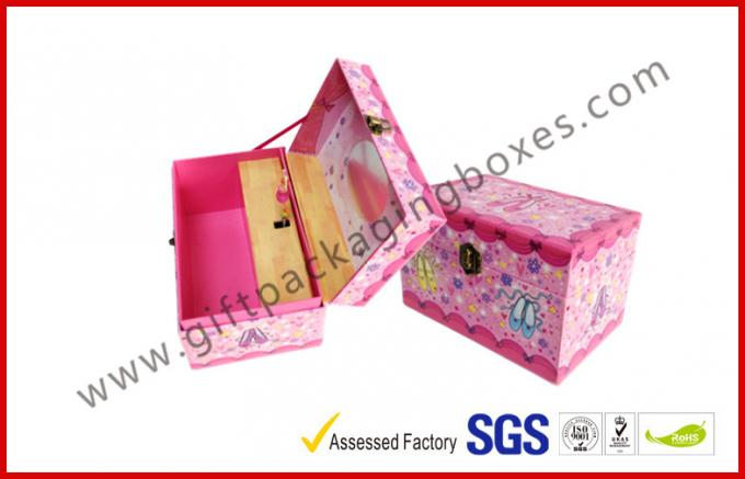 Customized Gift Packaging Box  Girl Gifts With Lock Dancing Shose Box