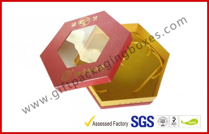 Octangle Chocolate Packaging Boxes / Window Boxes Hot Stamping Boxes
