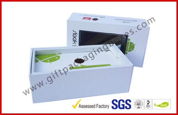 White Cardboard Gift Boxes / Phone Case Box With C1S Paper Materials , Glossy Lamination