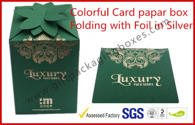 Fashion Green Card Board Packaging Box Rectangle for supermarket