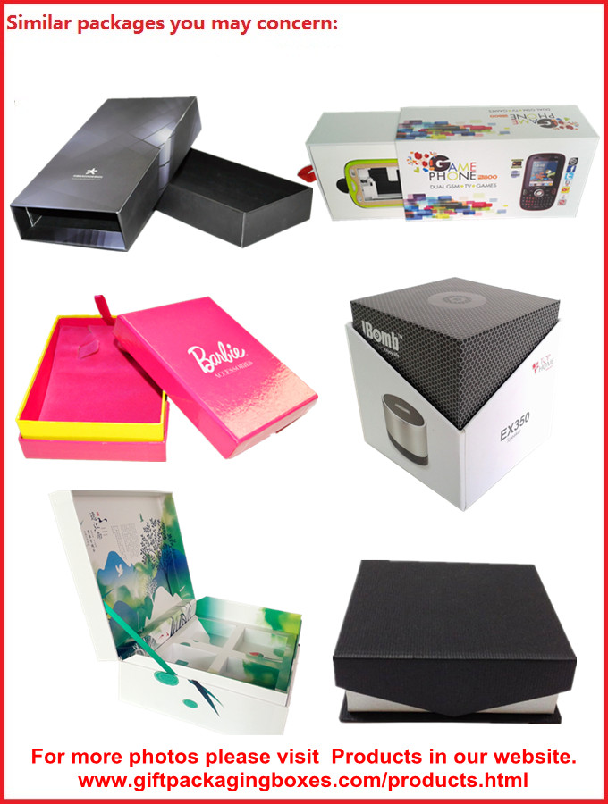 Smart Phone Magnetic Packaging Boxes , UV Coated Mobile Phone Box Packaging