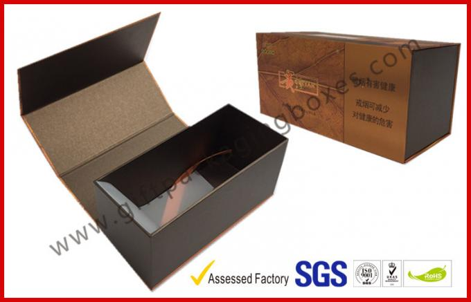 Brown Food Grade Cigar Gift Paper Box  with Tissue Paper Printed 0
