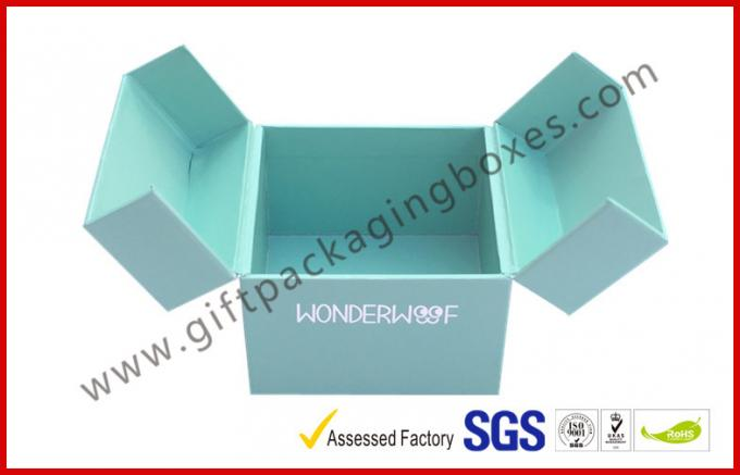Special Emerald Pop Up Custom Gift Boxes Silver Logo Foiled Promotion Gift Package
