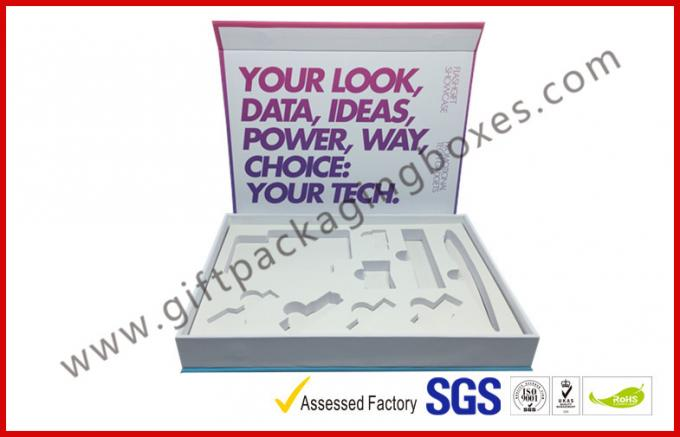 Soft Touch Lamination Rubber Finished Cardboard Gift Boxes Hi End USB Recyclable Display