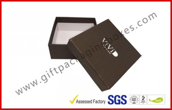 Embossed Apparel Gift Boxes Paper Wrapping Box Silver Logo Moisture Proof