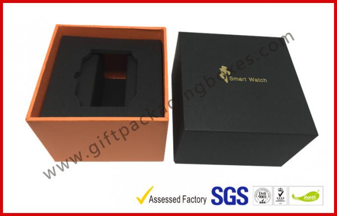 LID AND BASE gift box for smart watch small device , matt black cube boxes