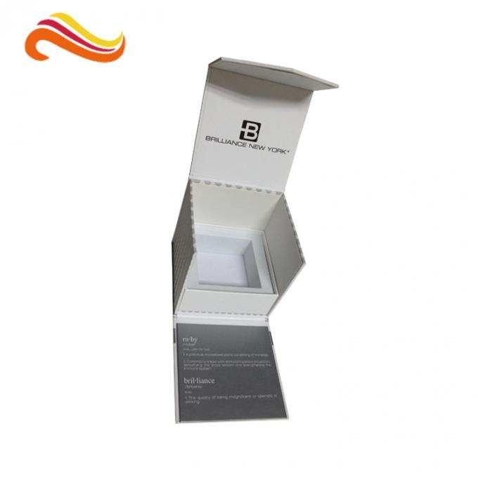 Black Custom Paper Packaging Box , Custom Printed Gift Boxes For Perfume Bottle