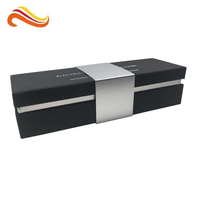 Black Color Keepsake Wrapping Paper Box Customized Logo With ROSH Certification