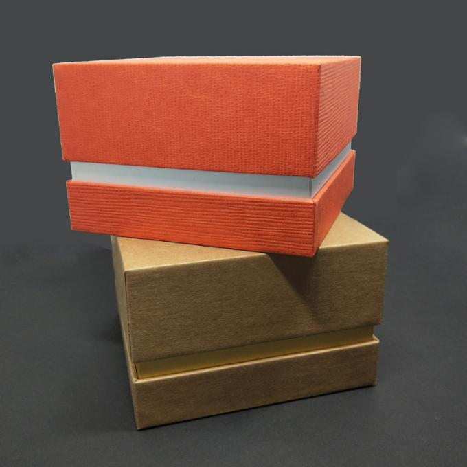 Gold Foil Stamping Logo Custom Paper Packaging Box 12x12x5cm Size With Foam Inside