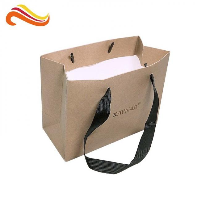 Cardboard Custom Kraft Paper Bags Logo Printing Packing Items For Jewelry