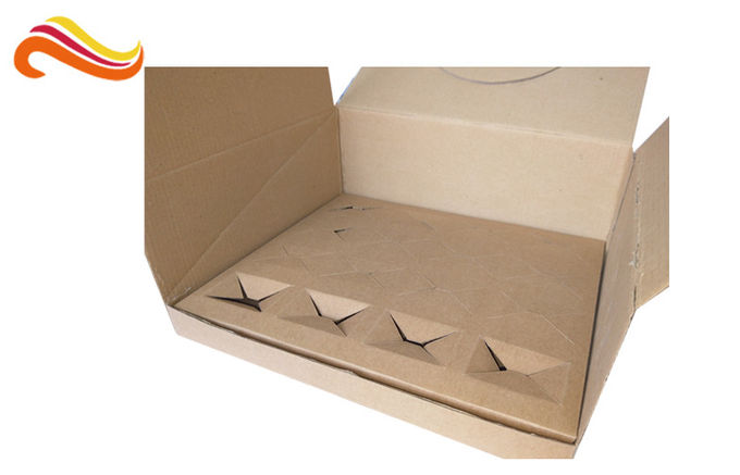 Disposable Corrugated Paper Box , Corrugated Packaging Box With Square Shape