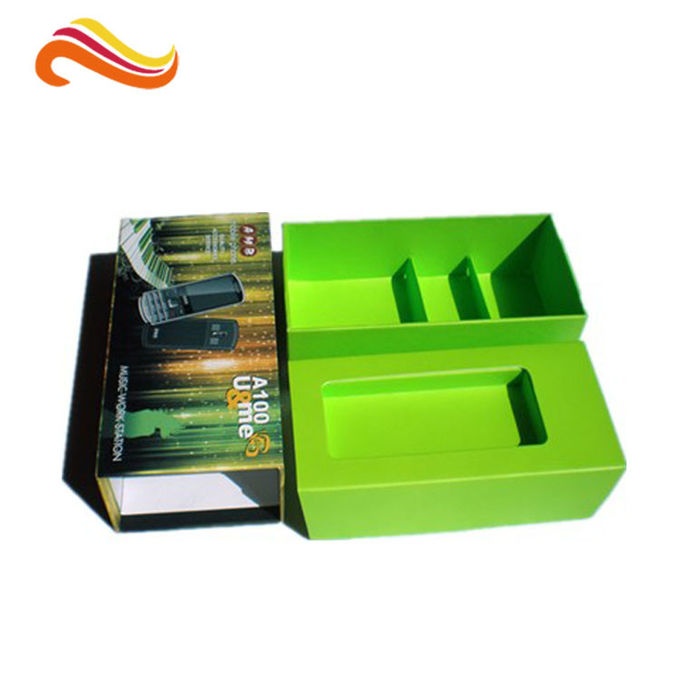 Rigid Custom Paper Packaging Box 2mm Cardboard Material Offset Printing With Ribbon